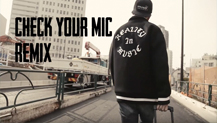 「CHECK YOUR MIC feat MC ニガリ a.k.a 赤い稲妻 R-指定(Creepy Nuts)般若 & DJ AKAKABE」PV